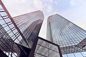 picture of frankfurt am main  - modern office towers in Frankfurt am Main - JPG
