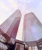 pic of frankfurt am main  - modern glass and steel office towers in Frankfurt am Main - JPG