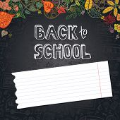 stock photo of drow  - Back to School Supplies Sketchy  - JPG