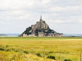 stock photo of mont saint michel  - rural view with mont saint - JPG