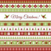stock photo of christmas greetings  - Vector Christmas greeting card with Christmas elements - JPG