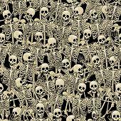 stock photo of skeleton  - Fun skeletons - JPG