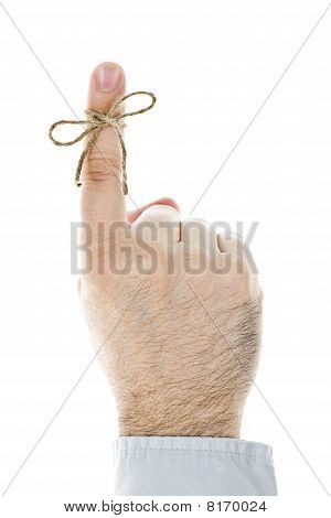 String Tied On Finger As Reminder