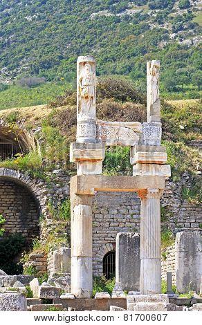 Ruins Of The Ancient Greek City Ephesus, Turkey