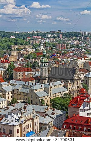 View Of The Bernardine Church And Monastery, Lviv, Ukraine