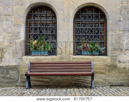 The bench in the old town.