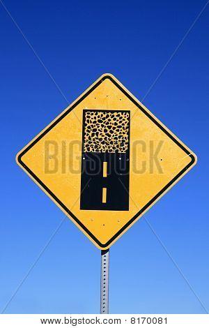 Gravel Road Sign
