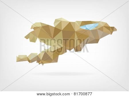Low Poly map od Kyrgyzstan