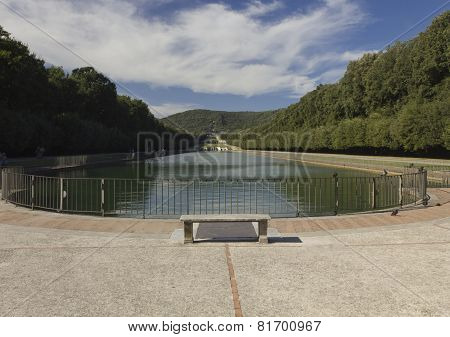 Caserta Royal Palace Garden lake