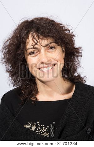 Woman Smiling Even If She Is Ill