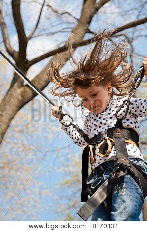 Little Girl In A Bungee