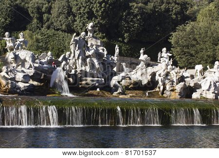 Caserta Palace Royal Garden statues