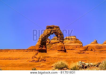 Utah Famous Delicate Arch In Arches National Park, Usa