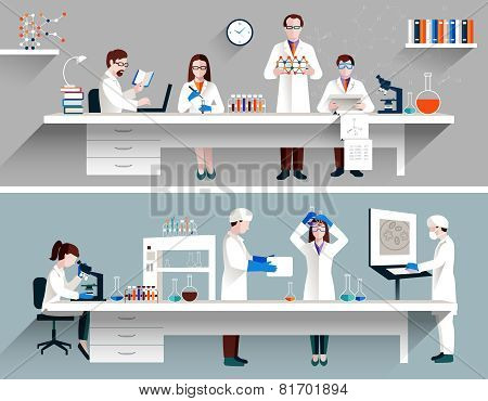 Scientists In Lab Concept