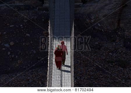 Crosing The Hanging Bridge.