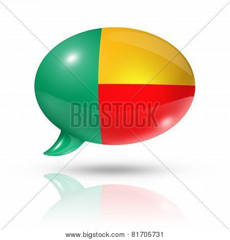Beninese Flag Speech Bubble
