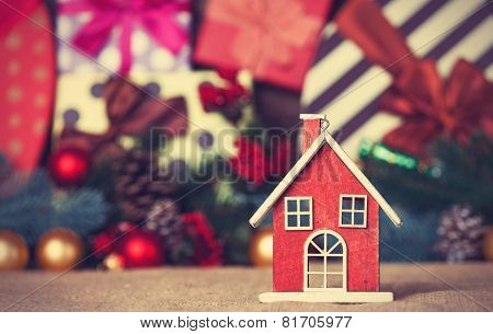 Toy House And Christmas Gifts