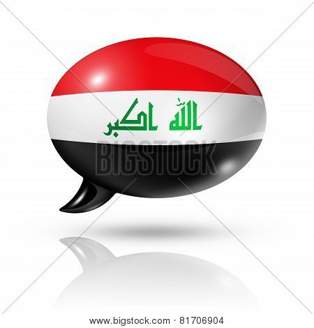Iraqi Flag Speech Bubble