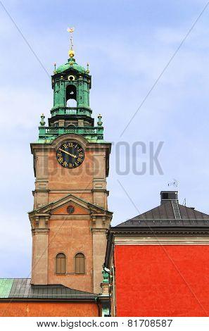 Saint Nicholas (storkyrkan) Bell Tower, Stockholm, Sweden