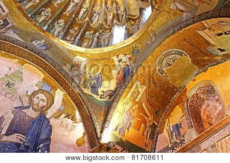 Murals Under The Dome In The Church Of The Holy Savior