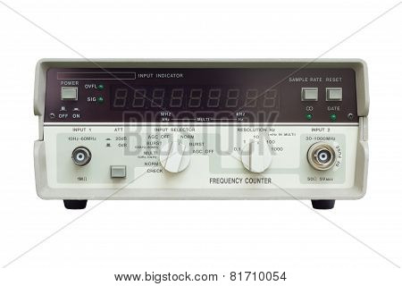 Frequency Counter On White Background