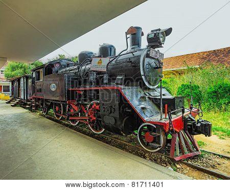 Antique Train Transport Tourist To Visit In Dalat