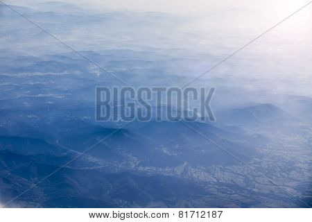 Carpathian Mountains, View From Plane