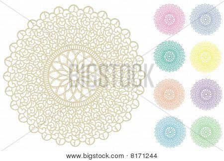 Filigree Lace Doilies, 9 Pastel Colors