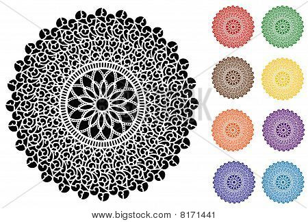 Filigree Lace Doilies, 9 Jeweltones