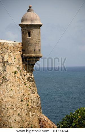 Sentry tower in San Juan