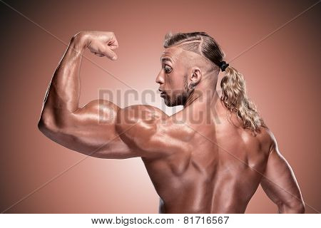 Attractive male body builder