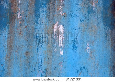 Old Rusty Metal Container Surface