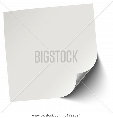 Gray Blank Memo / Note