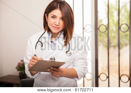 Doctor Taking Some Notes