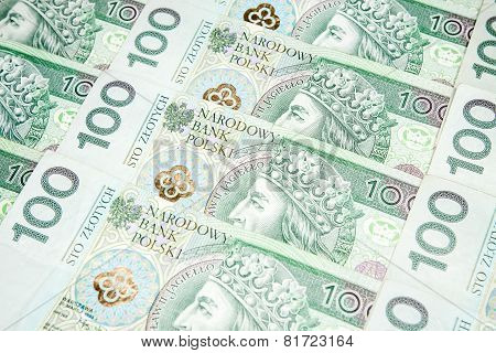 100 zloty banknotes - Polish currency