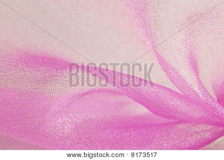 pink organza fabric macro
