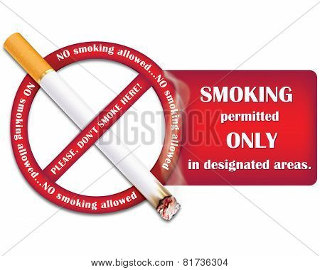 Don't Smoke sticker