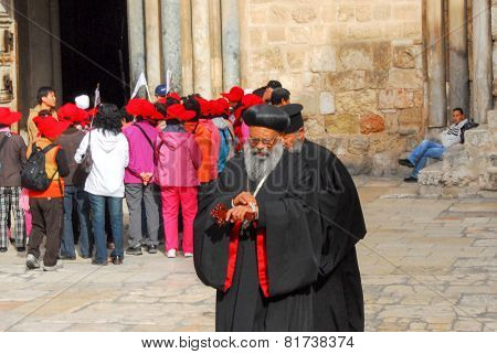 Orthodox Priest, Holy Sepulchre Church, Jerusalem