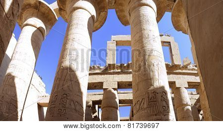 The Karnak Temple , Luxor, Egypt.