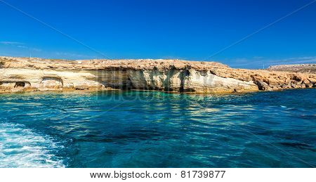 Sea Caves In Ayia Napa, Cyprus
