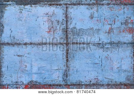 Blue Grungy Metal Texture With Seams