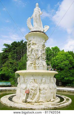 Fountain In Arboretum , Sochi City.