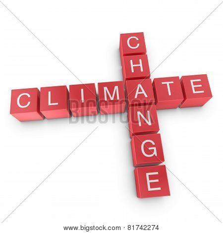 Climate Change Crossword Concept