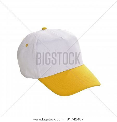 Baseball Cap Yellow Isolated