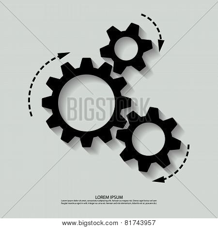 Vector mechanism black white