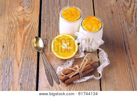 Breakfast Time (homemade Yogurt, Orange And Cinnamon Jam)