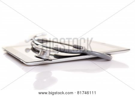 Stethoscope Over A Tablet Computer