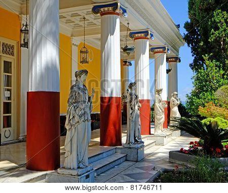 Achilleion Palace Statues