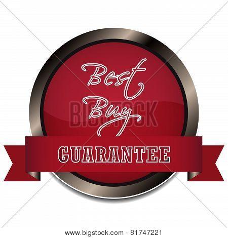 Best buy guarantee vector icon or badge