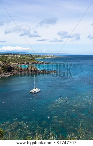The coast of Hololua Bay, Maui
